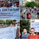 Podgorica: Održan protest zbog epidemiloških mjera, građani se protive obaveznoj vakcinaciji protiv COVID-19