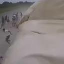 Olujni vjetar u Hrvatskoj u par sekundi uništio cijeli šator, ljudi bježali na sve strane