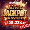 Meridian Kazino – Isplaćen dobitak od 1,125,234 Eura!