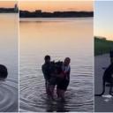 Dirljiv snimak: Muškarci zapazili kengura kako se smrzava u jezeru, pružili su mu ruku…