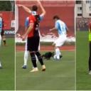 Nesvakidašnji trenutak na Tušnju: Pas utrčao na teren i pokazao svoje umijeće s loptom