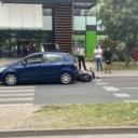 Saobraćajna nezgoda kod BCC-a: Učestvovali automobil i motocikl