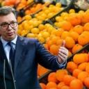 """Vučić na primjeru sa pomorandžama objasnio """"barbarske trikove Prištine"""""""