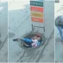Širi se snimak iz Indije: Žena s bebom u naručju upala u šaht na cesti, vlast danima nije reagovala